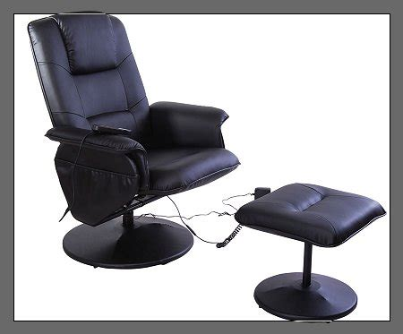 cheap black recliner chairs black friday aosom i3233 office recliner massage chair