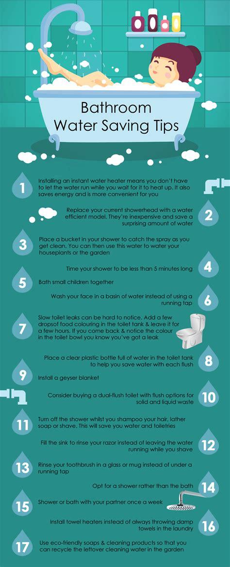 Bathroon 100 Water Saving Tips