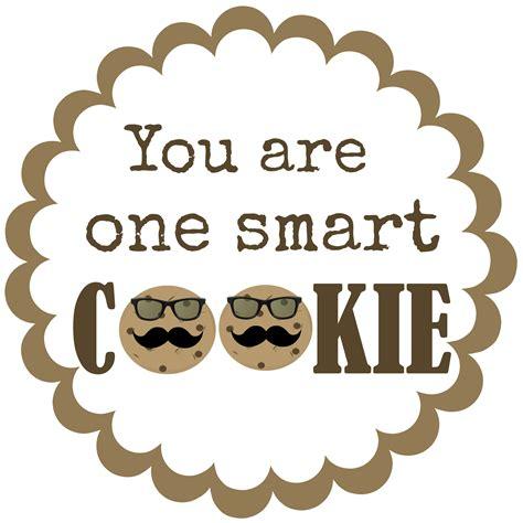Test Treats One Smart Cookie Printable Tag Printable Cookie Template