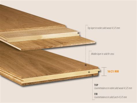 three layers plank for engineered parquet flooring made in