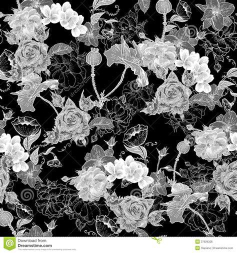 bloemen zwart wit tekening zwart wit achtergrond met bloemen vector illustratie