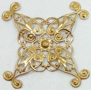 filigree jewelry supplies brass filigree vintage jewelry supplies