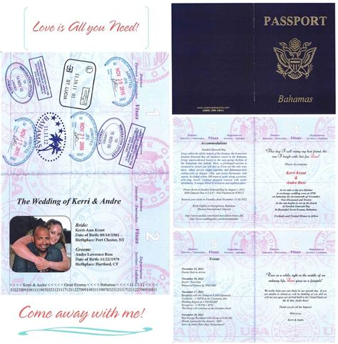 passport wedding invitations template wedding invitation wording wedding invitation templates