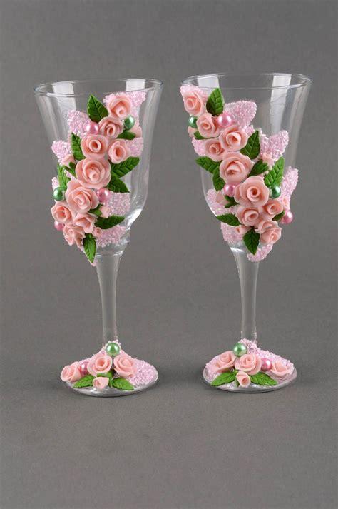 decoracion de vasos de vidrio para navidad madeheart gt copas para boda hechas a mano vasos de cristal