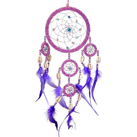 Bohemian Home Decor Ideas by Large Purple Beaded Dream Catcher