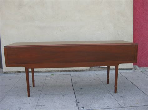 Drop Leaf Console Dining Table Walnut Drop Leaf Dining Or Console Table By Drexel At 1stdibs