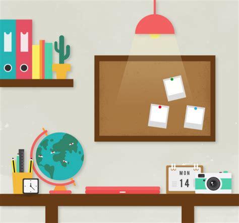 wallpaper cartoon study study desk tidy illustrator vector material download free