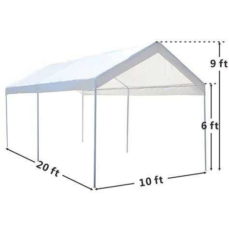 Canopy Frame Portable Car Carport Garage Cover Steel Frame Canopy