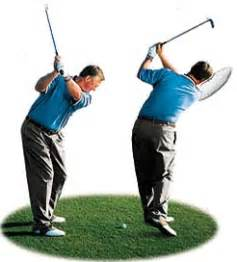 golf swing shoulder turn downswing golf impact and followthrough