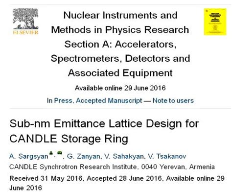 nuclear instruments and methods in physics research section a sub nm emittance and low alpha candle storage ring