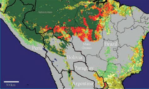 south america deforestation map map reveals extent of deforestation in tropical countries