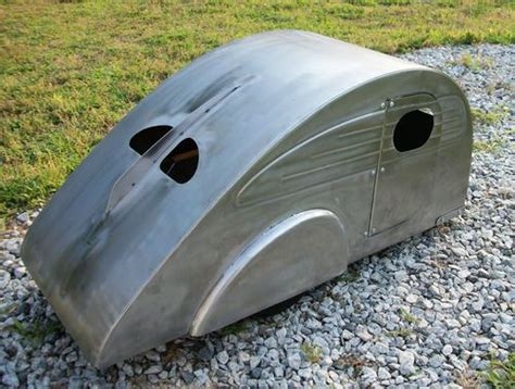 retro teardrop cer deco vintage style teardrop pedal car travel trailer