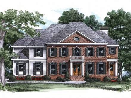 classic georgian house plans 18th century center hall colonial floor plan trend home design and decor