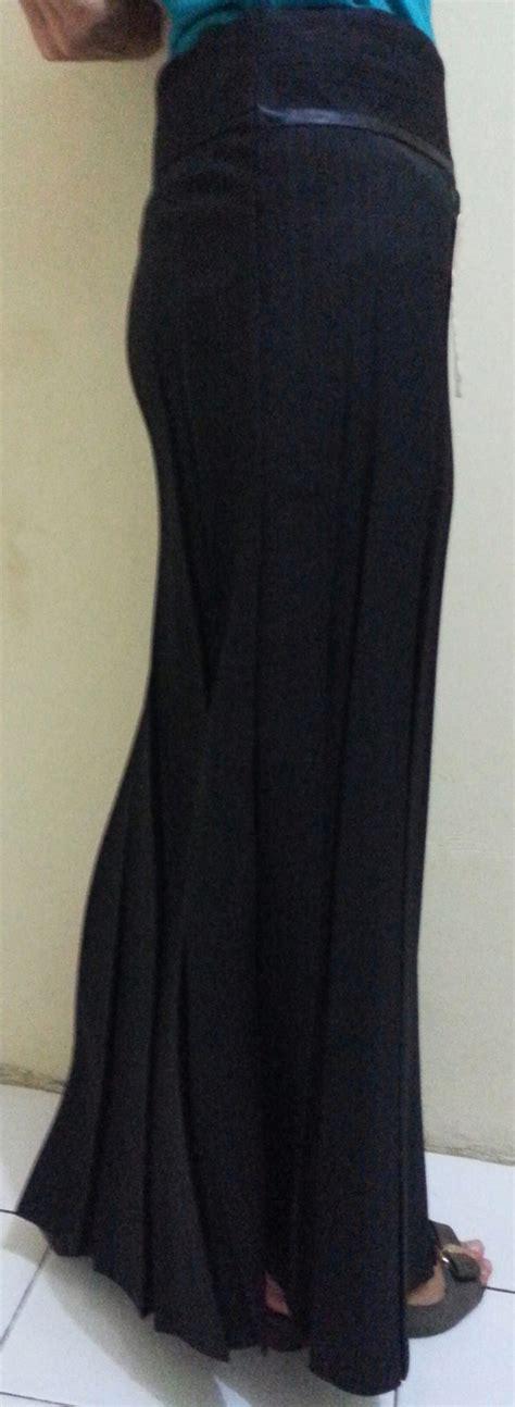 Celana Formal Cewe Abu Abu rok panjang rempel cewek wanita cewe formal kerja kantor