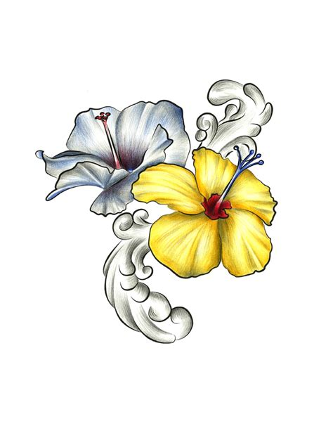 hawaiian hibiscus tattoo designs hibiscus drawing at getdrawings free for