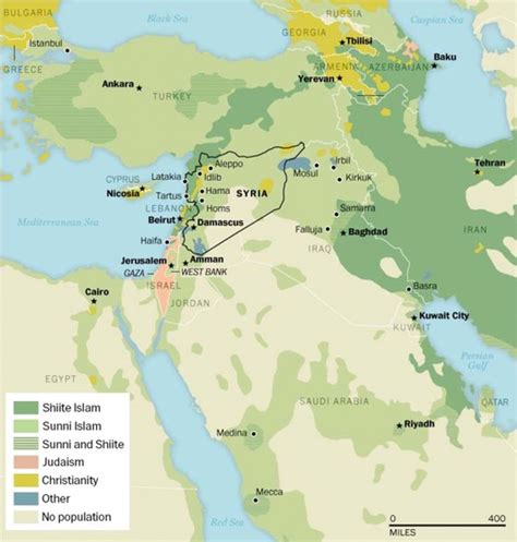 middle east map of religions the obvious solution in the divide between shia and sunni