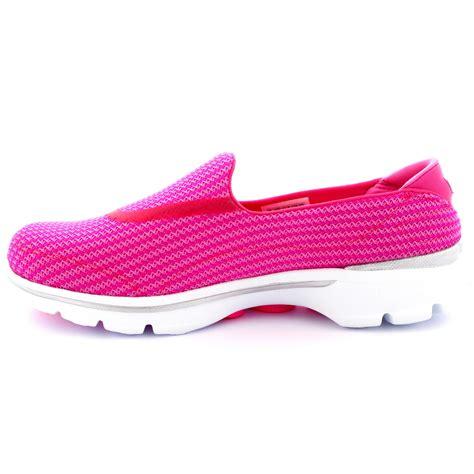 Skechers U by Womens Skechers Go Walk 3 Pink Walking Slip On