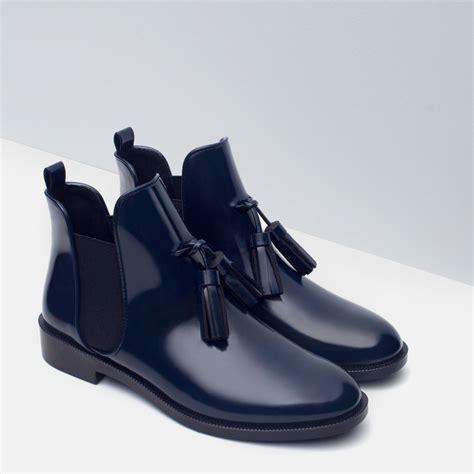 Sandal Flat Zara Nn41 Promo Menarik fall winter new chic ankle boots chelsea booties tassels pu leather fashion