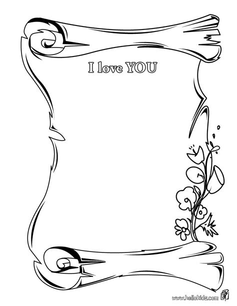 I Love You Coloring Pages Hellokids Com Coloring Pages I You