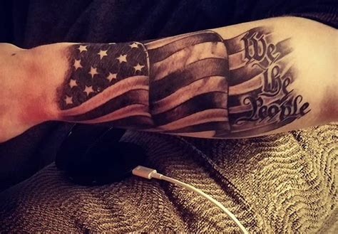 we the people forearm tattoo veteran ink