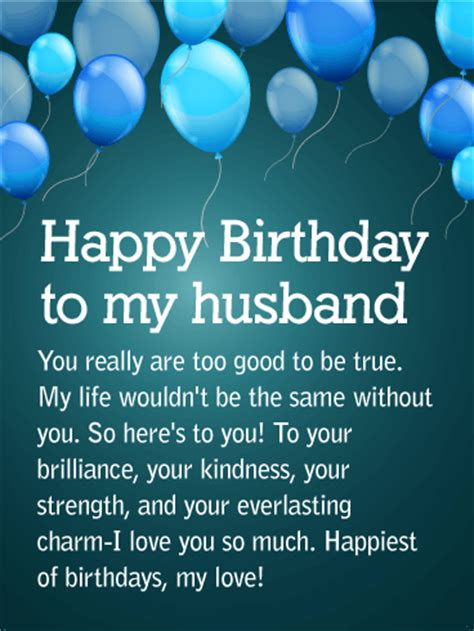 Happy Birthday Wishes To My Husband To My Partner For Life Happy Birthday Wishes Card For