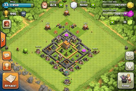 clash of clans town hall 6 setups th6 setups clash of clans tips town hall level 6 layouts