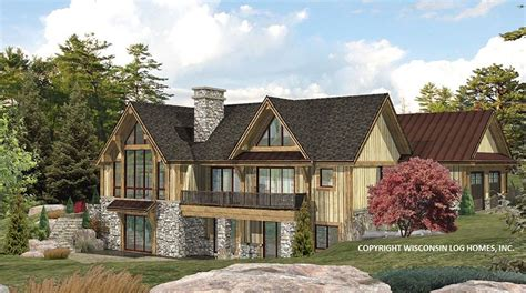 hybrid log house plans mywoodhome
