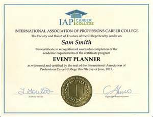event planner certificate course