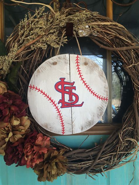 st louis cardinals etsy contemporary home decor st louis wooden baseball decor st louis cardinals door decor