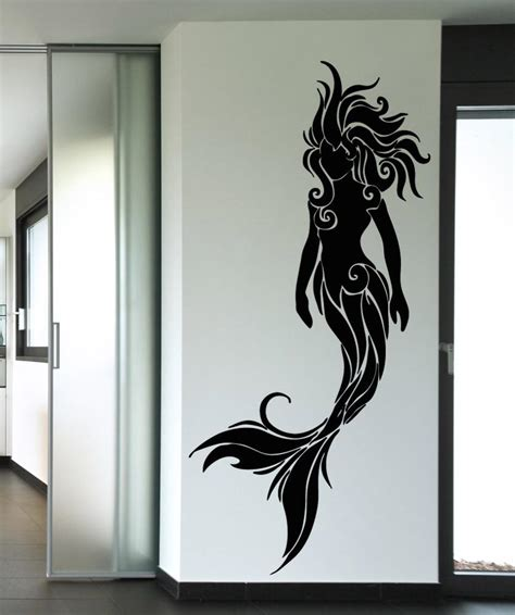 Mermaid wall sticker mermaid decals for walls