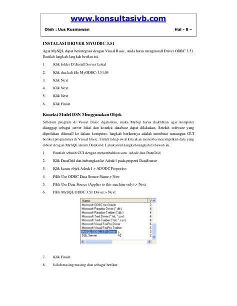 membuat koneksi database mysql dengan vb net koneksi vb dengan database mysql