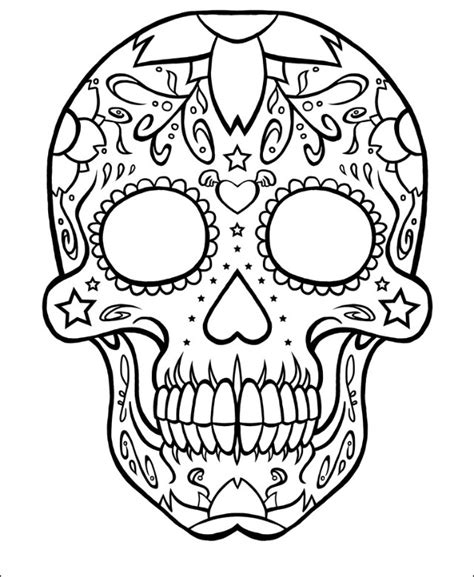 blank sugar skull template skull idea ideas