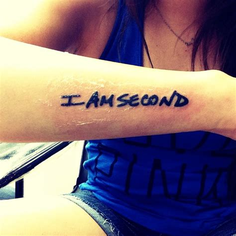 i am second tattoo the world s catalog of ideas