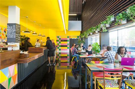 design cafe funding morag myerscough vibrantly rejuvenates the bernie grant