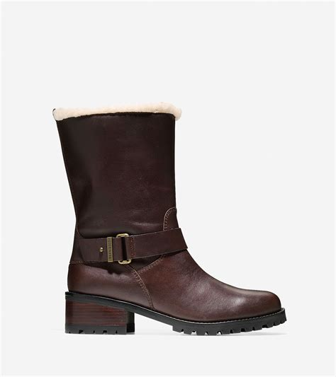 cole haan waterproof boots s lyst cole haan chlain waterproof boot 40mm in brown