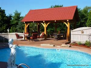 backyard construction timber frame pavilions photos homestead structures