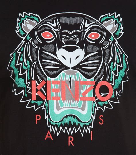 kenzo tiger graphic in black for lyst
