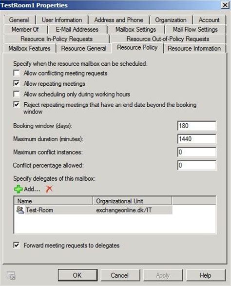 room mailbox permissions exchange 2010 resource mailboxes and groups based delegation techgenix