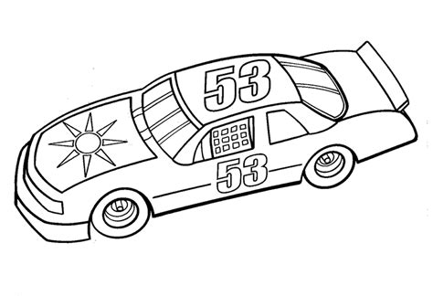 Nascar Coloring Pages For Kids Coloring Home Nascar Coloring Page