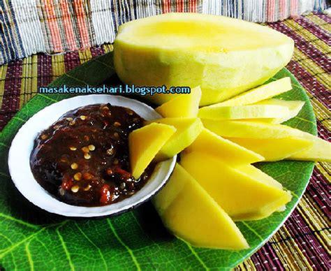 resep rujak buah bumbu sambal kacang pedas
