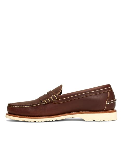 wing loafers s wing mini lug loafers brothers