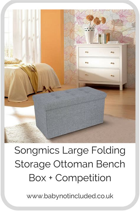 folding storage ottoman bench review songmics large folding storage ottoman bench box