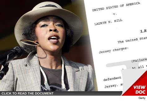 lauryn hill refugee lauryn hill charged with being a tax refugee tmz