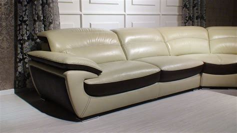 two tone couches miracle contemporary two tone leather sectional sofa