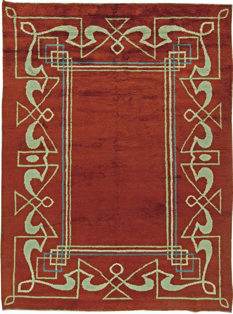 Superb Vintage Inspired Home Decor #5: Carpets-vintage-art-deco-french-vintaue-red-geometric-minimalist-11x8-bb5832.jpg