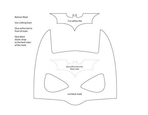 mask template for template eye mask template