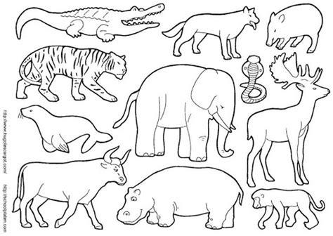 imagenes animales salvajes para imprimir colorear animales salvajes