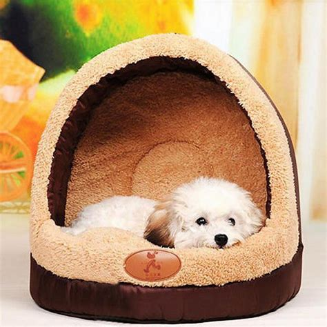 soft dog house bed soft pet dog cat bed house sleeping cave dog bed house plush nest mat pad for pets