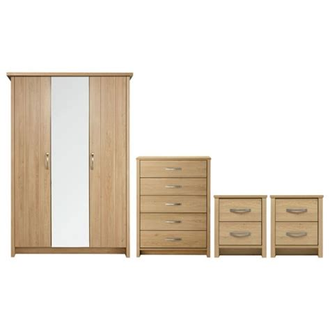 Buy Bedroom Furniture Uk Buy Collection Truro 4 Pc Bedroom Furniture Package Oak Effect At Argos Co Uk Your