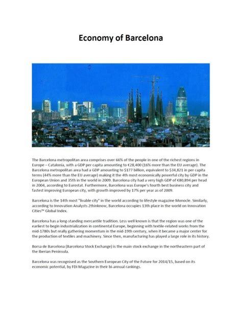 barcelona economy mukesh valabhji economy of barcelona